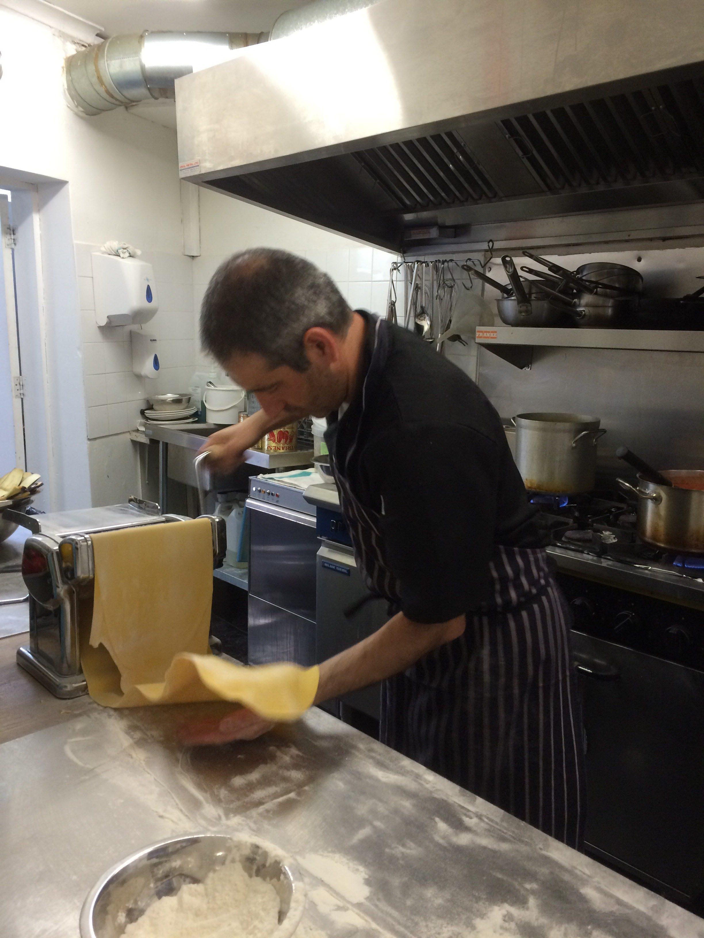 handmade pasta, fresh pasta, chef Carlo