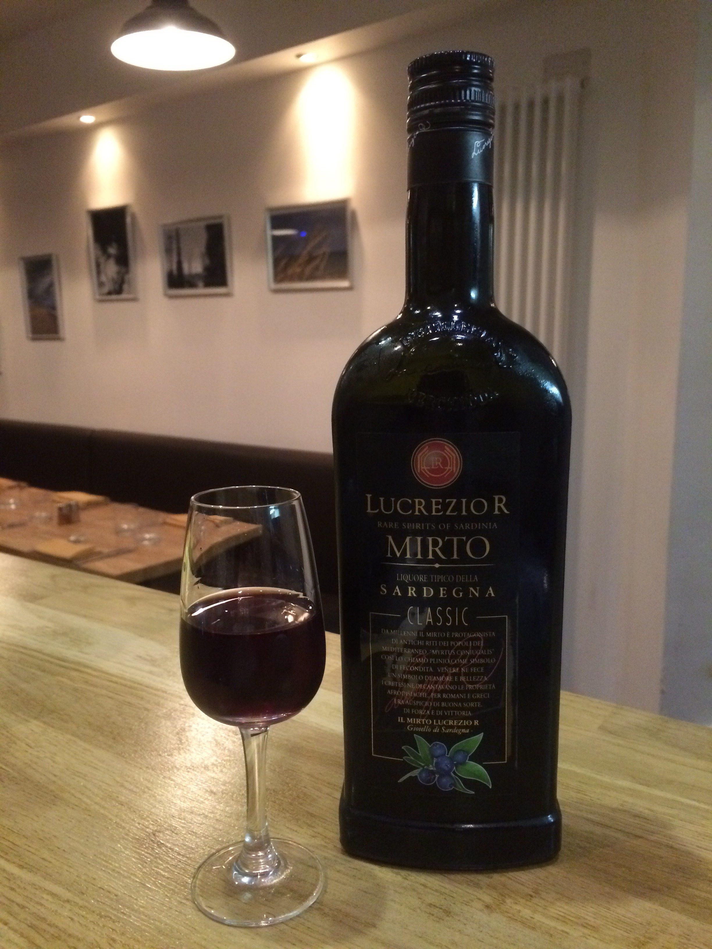 mirto, myrtle berry liqueur