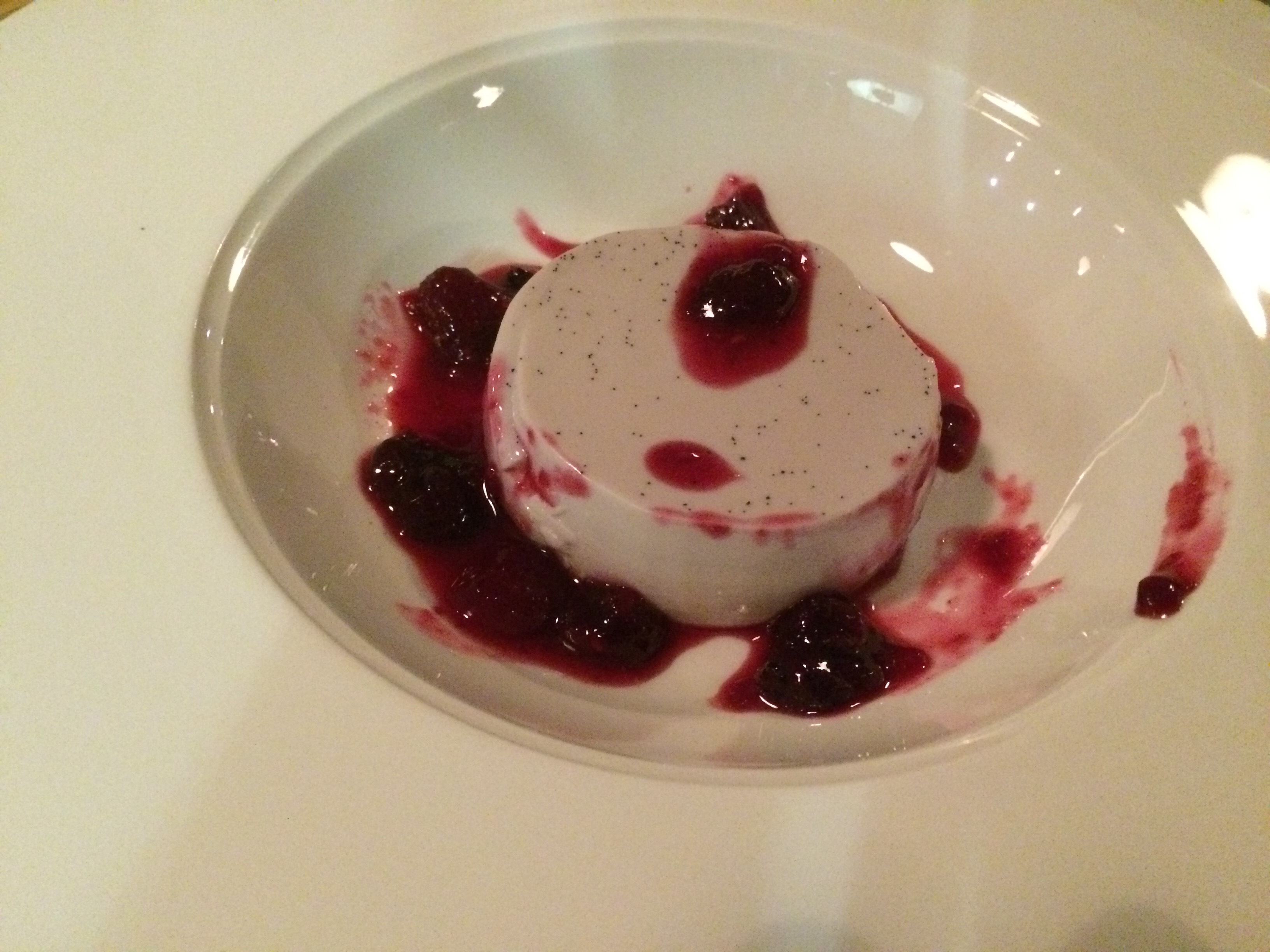 Pannacotta with mirto