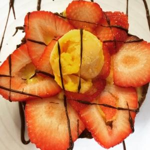 Crostatina alle fragole, vanilla custard, strawberry tart
