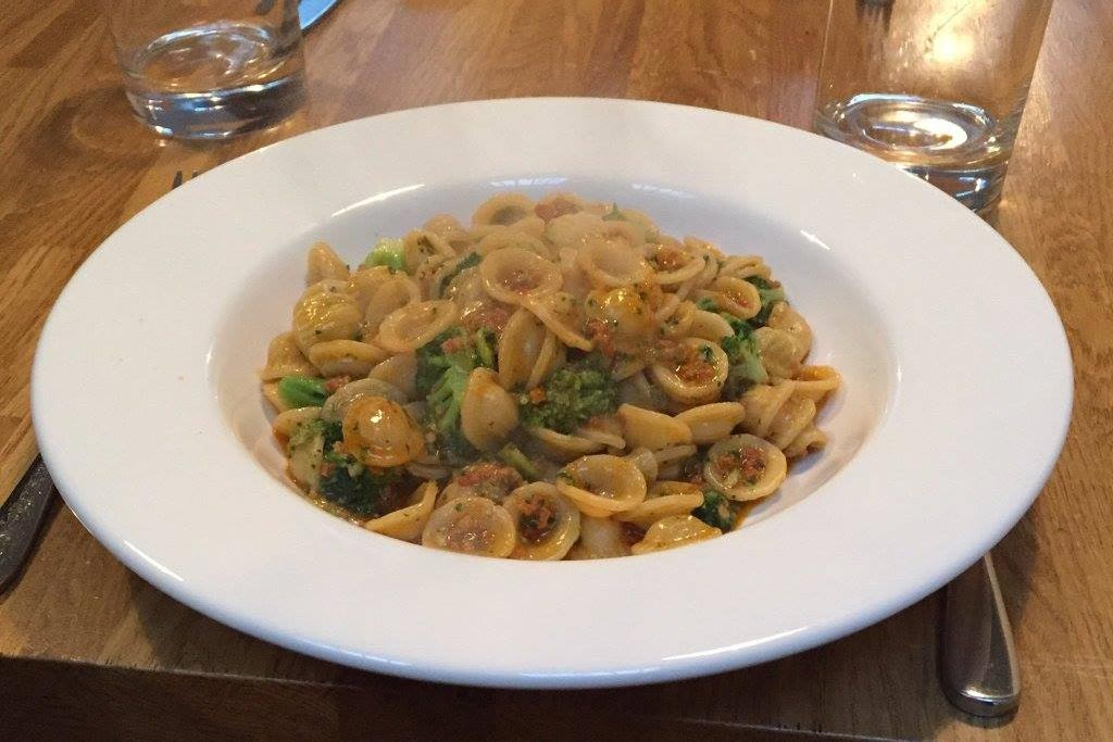 Orecchiette pasta with broccoli
